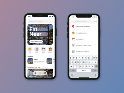 Eat near, The rewards app app branding typography application product design design daily ui illustration ux ui