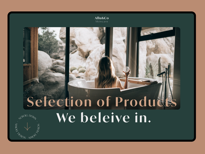 Skincare Eco-mmerce Home Page colors modern design figma figjam skincare animation web design app product design ux ui