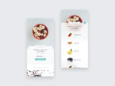 Food cart UI userinterface voice ux user experience user interface ui shopping receipt os natural ios illustraion food ecommerce ai add