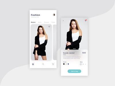 Fashion E-commerce app figma sketch add to bag ecommerce app fashion app fashion typography branding add ai design daily ui vector icon ux ui illustration