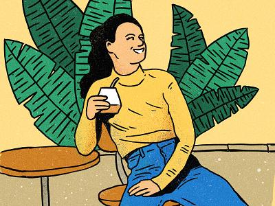 Maraña Mate Girl jungle ipad procreate sketchbook sketch lifestyle plants coffee woman girl mate yerba mate branding character drawing art design illustration
