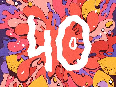40 Symmetry symmetry splash summer red draw digital painting digital art digitalart 40 lemon fluid hot ipad procreate editorial drawing art graphic design illustration
