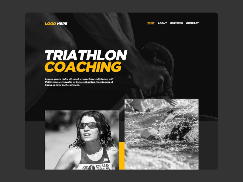 Bee Coaching Homepage ux design front page homepage design homepage design web design ux ui