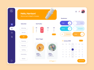 Poll Designer Dashboard - MegaFon
