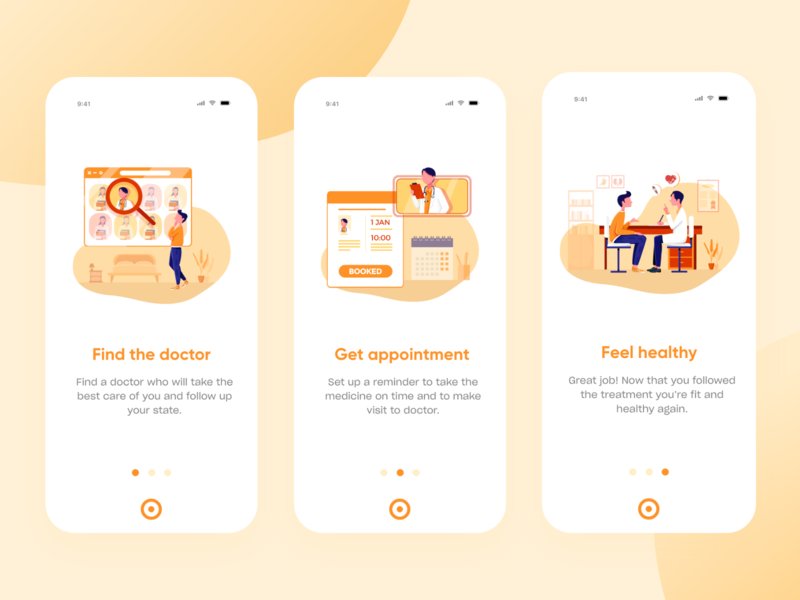 Medicine Mobile App Onboarding search welcome ui health app doctor appointment python move animation json online doctor medical onboarding medicine minimal dashboard illustration clean creative interface