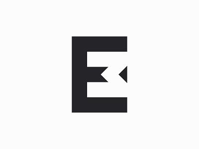 Monogram for Eddie van der Meer identity m negative space creative dark black mono branding professional logo em