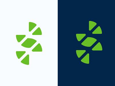 Letter S logo concept unicorn ui s logo invite green dribbble design dark concept color branding