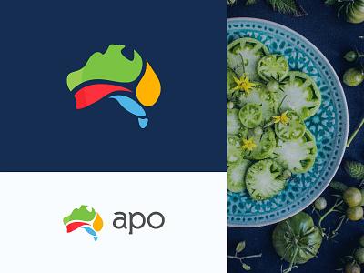 apo logo design bio colored logo