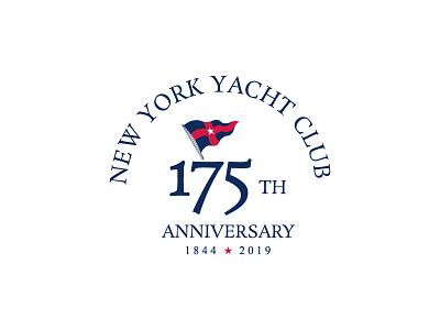 New York Yacht Club 175 Anniversary 2019 pro club branding logo 175 anniversary yacht club new york