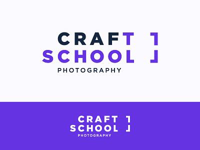 CRAFT SCHOOL identity colored photography school creative craft art school logo