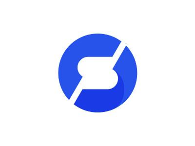Exploration of new logo simple art ux ui clean gradient blue corporate logo letter s letter s