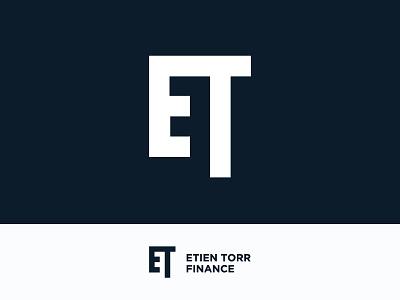 ETF Monogram logo design identity ci simple clean finance erien letterm logo etf