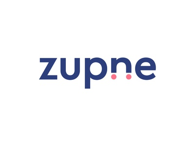 Ecommerce logo - Zupne red typography ecommerce e commerce ecomerce professional top letter identity creative logo
