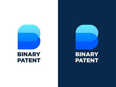 BP logo design for Binary Patent corporate invite pro brand icon app new top letter pb bp branding illustration blue identity creative logo