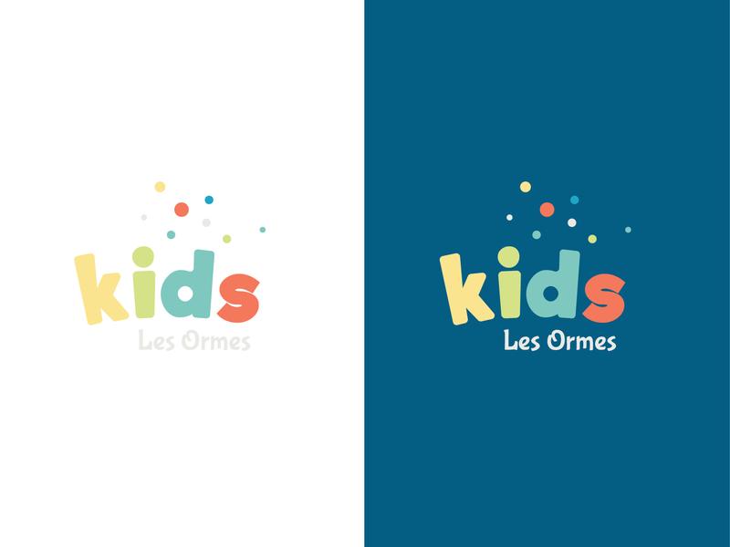 Kids Logo unique design logotype work children childcare nice coloful colors logo kids