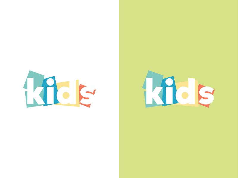 Kids Logo proposal 2 multicolored multicolor vibrant identity childcare kids art art colorful kids logo