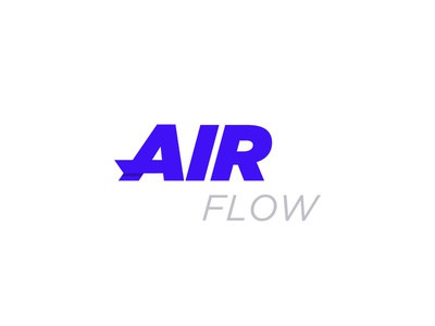 Air Flow typography vector dark clever unique colored corporate clean invite illustration top new dribbble professional letter identity blue design creative branding