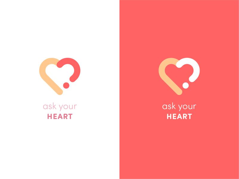 Ask Your Heart logo vector new professional letter design branding heart icon red logo redlogo nice redeemer heart logo heart