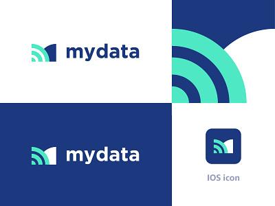 mydata branding. dribbble letter identity vector clean top professional branding design logo creative new blue exchange change send transfer letter m my