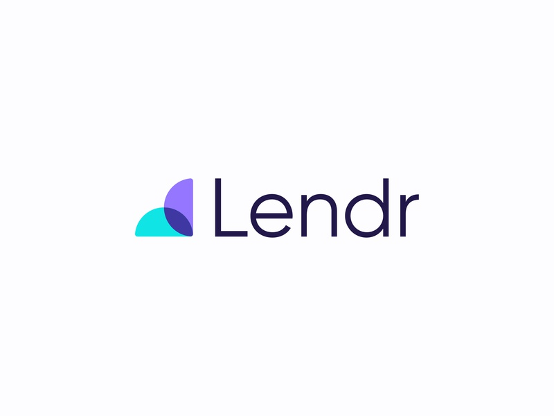 Lendr typography leaf colored vector unique clever illustration red clean top dribbble new letter professional blue design identity creative logo