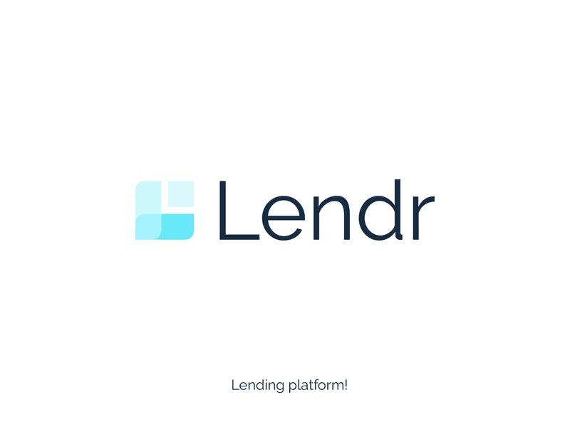 Lendr logo typography clever dribbble professional design identity creative branding lettering logotype blue lending letter l logo