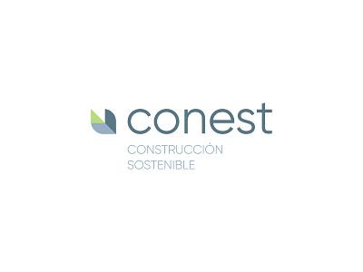 Conest clean dribbble professional design identity greens leaf logo logo design logotype logos logodesign work grey green leaf logo
