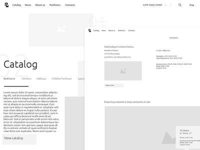 Furniture Factory Site (Desktop Prototype)