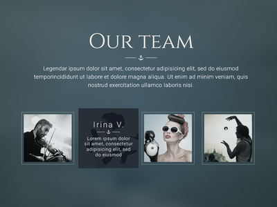 Our team trend style team card site