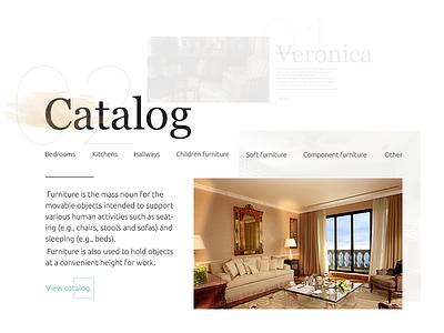 Furniture Factory Site (User Interface) user interface web site modular design card trend style ui