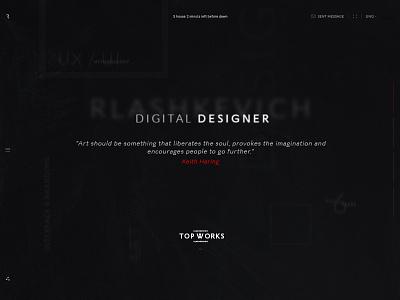 Rlashkevich ♦ Promo site ♦ Header promo desktop interface user trend style web ui site