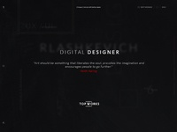 Rlashkevich ♦ Promo site ♦ Header