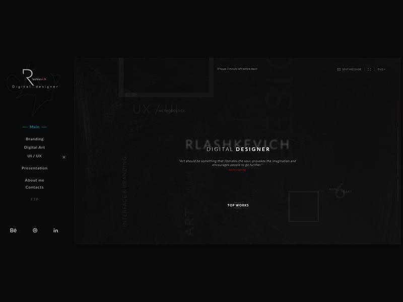 Rlashkevich ♦ Promo site ♦ Menu web user ui trend style site promo interface desktop