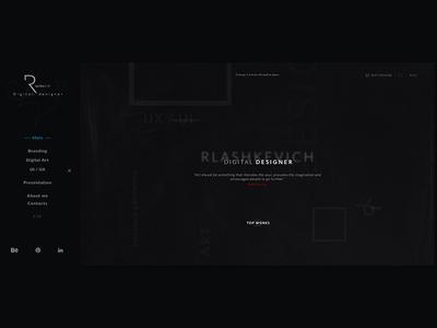 Rlashkevich ♦ Promo site ♦ Menu