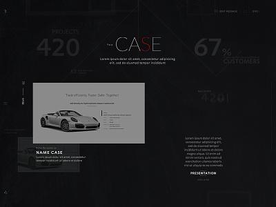 Rlashkevich ♦ Promo site ♦ Scrolling header-case video interactive motion web user ui trend style site promo interface desktop