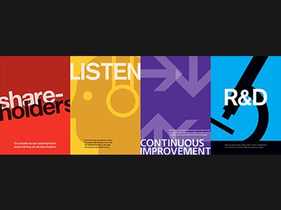 Values Poster poster swiss helvetica akzidenz grotesk frutiger avenir typography