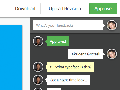 Proofing freight sans feedback annotations comments buttons simple minimal