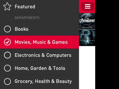 App Prototype ios prototype nav list menu din round