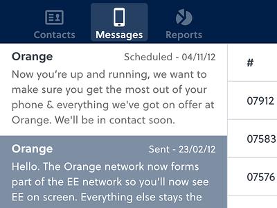 Messages app navigation soleil
