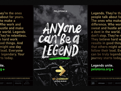 Anyone Can Be A Legend poster