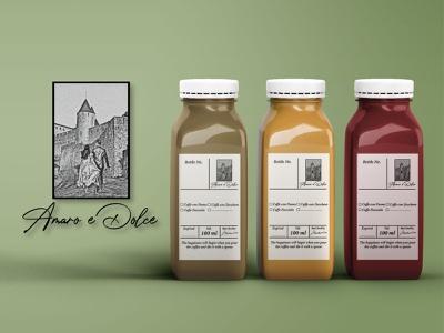 Amaro e Dolce - Logo & Branding Concept illustration logo graphic design design branding