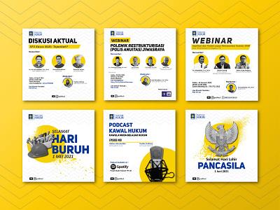 Law Study Center | Social Media Post #1 instagram post advertising intagram social media vector illustration graphic design design branding