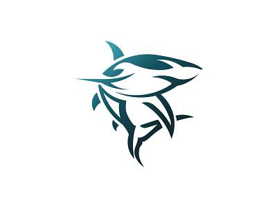 Deep Sea Shark   Logo Design vector sea shark design logo branding graphic design