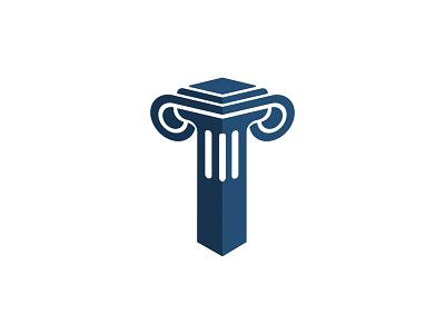 Pillar Logo   Logo Design law pillar vector logo branding illustration design