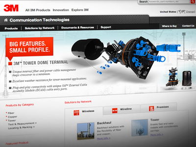 3M Telecom Homepage Carousel carousel product explosion diagram