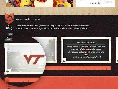 Portfolio site - About me scroller portfolio personal site personal bio bio