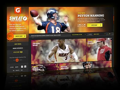 Gatorade Sweat With the Best Promo sticky nav promotional contest athletes ui website