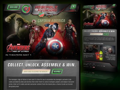 Mtn Dew / Avengers 2 Promo glowing ui metal texture avengers promotional