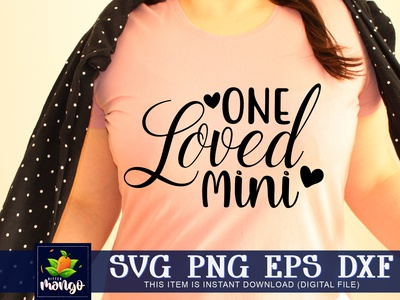 One loved mini SVG cricut one loved mini svg