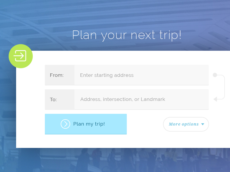 Trip Planner by Cole Winans on Dribbble
