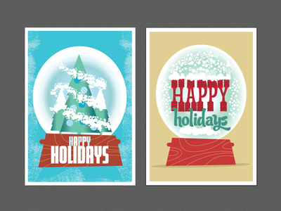 Happy Snowglobes snow snowglobes winter holidays trees